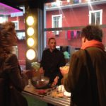 cooking show in vetrina