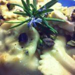ravioli di spigola e pistacchio